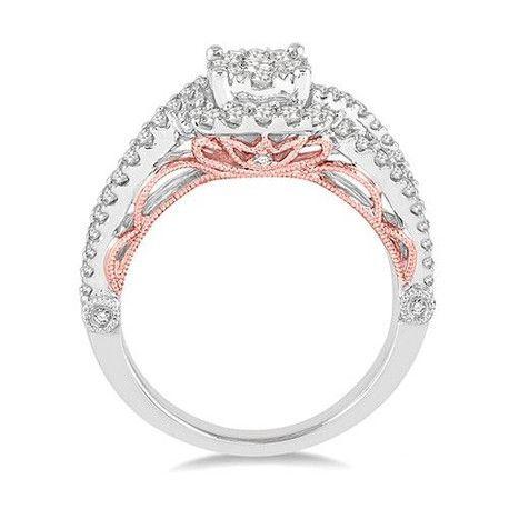 TwoTone Diamond Engagement RingAndrews JewelersBuffalo NY