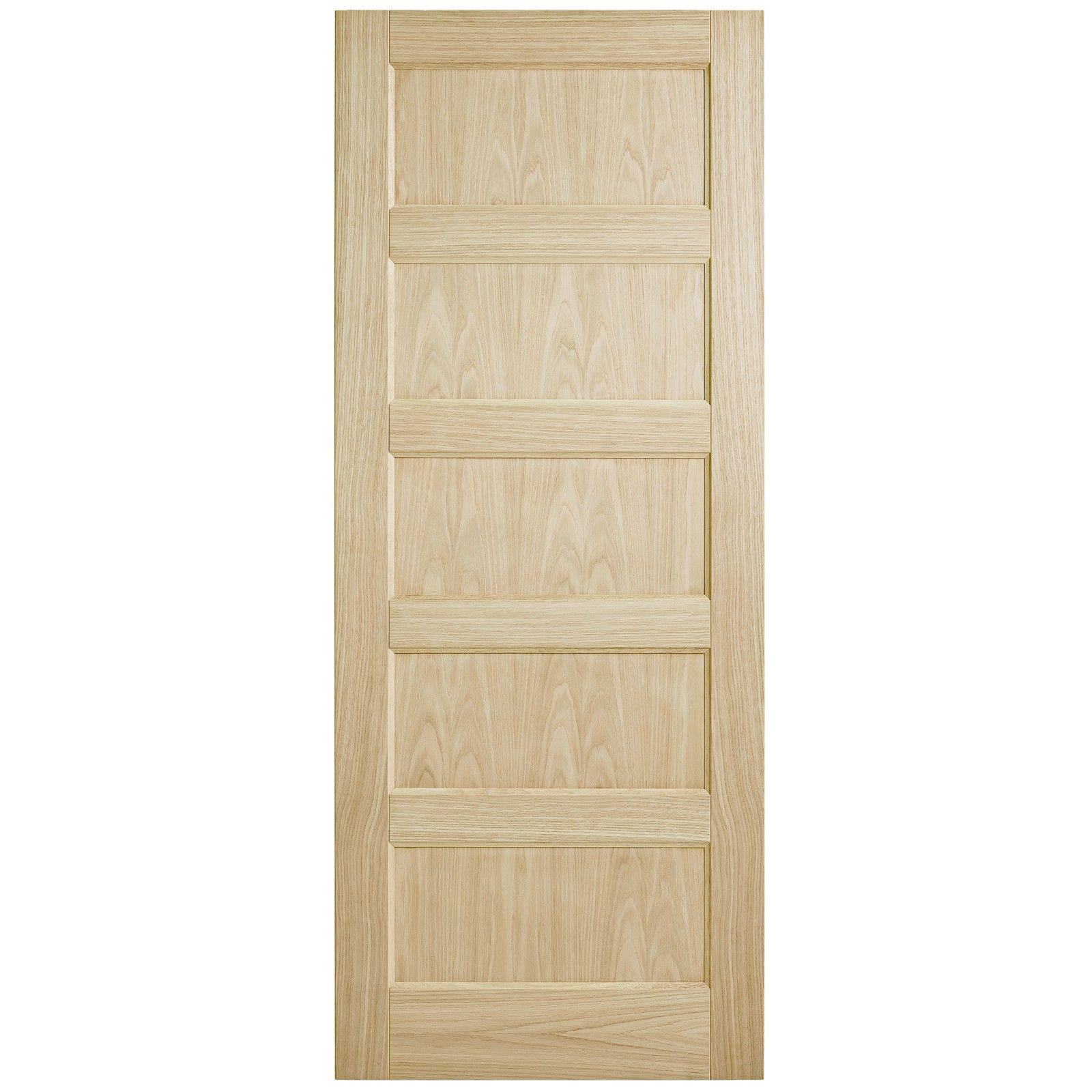 Corinthian Doors 820 X 2040 X 40mm Blonde Oak Awo 5 Entrance Door Entrance Doors Cavity Sliding Doors Installing French Doors