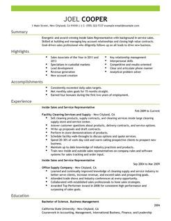 Inside Sales Resume Examples  Google Search  Resumes