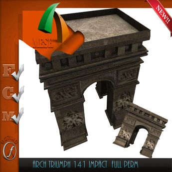 Triumph Arch Paris Arc Triomphe Full perm only 141 impact