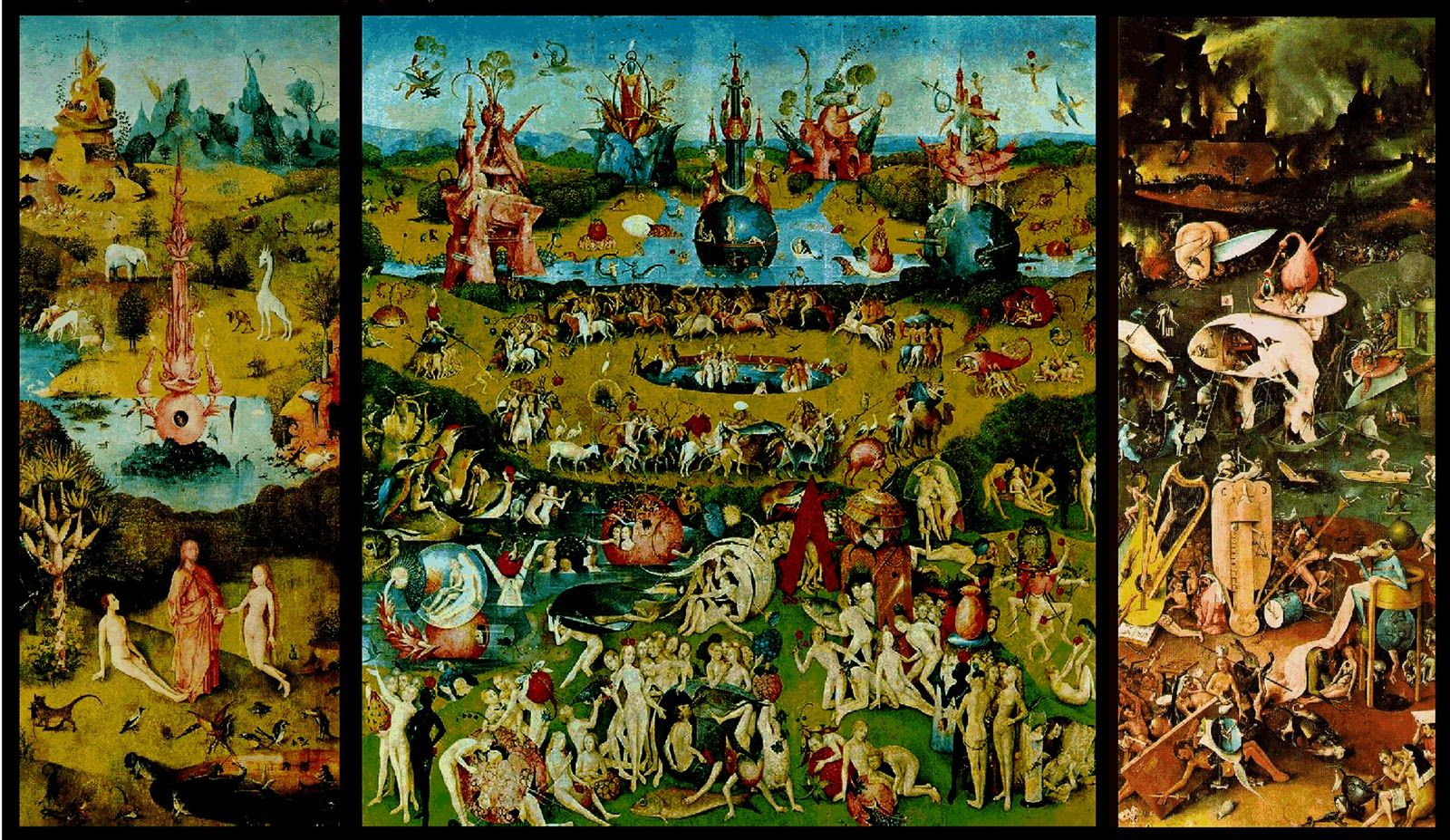 Bosch\'s Garden of Earthly Delights I saw the original in Madrid\'s ...