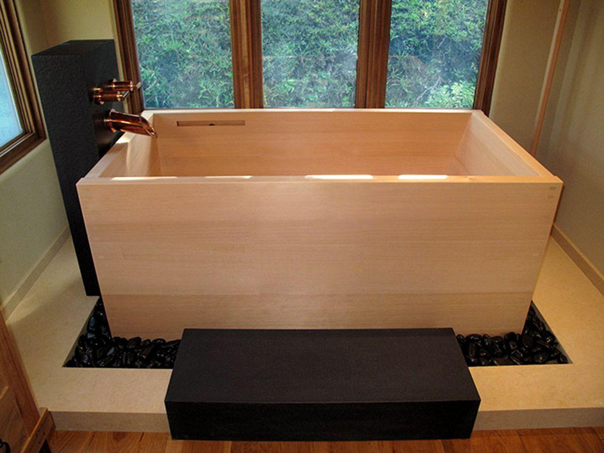 hiroshi sakaguchi makes japanese soaking tubs ofuro with skill and precision to