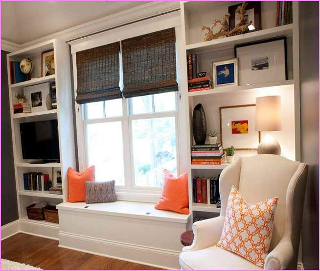 Diy Built In Bookshelves With Window Seat | The