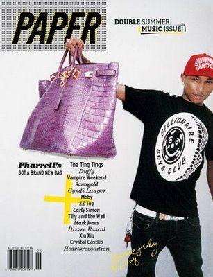 f73f6328b3b9 Pharrell and his infamous purple crocodile custom Hermes Oversized Birkin -  He loves it so much