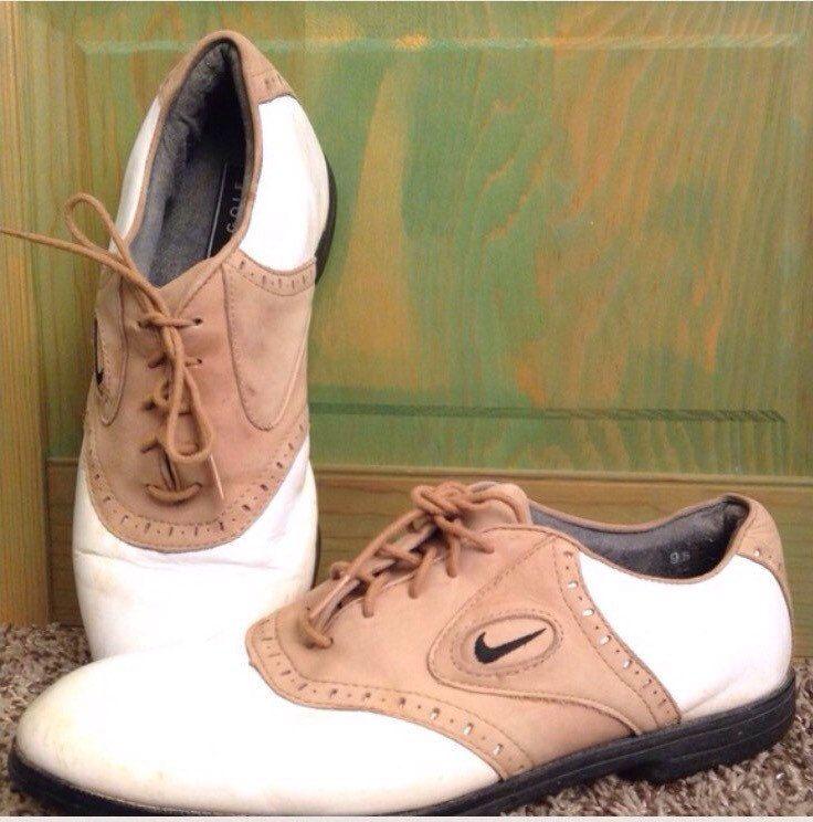 new concept 19d68 a17b7 Vintage NIKE AIR JORDAN Tour Saddle Golf Shoe Size 9 1 2 Tan White Zoom Air  Jordan, Golfer, Golfing Apparel, Sporting Goods, Women s Shoes, ...