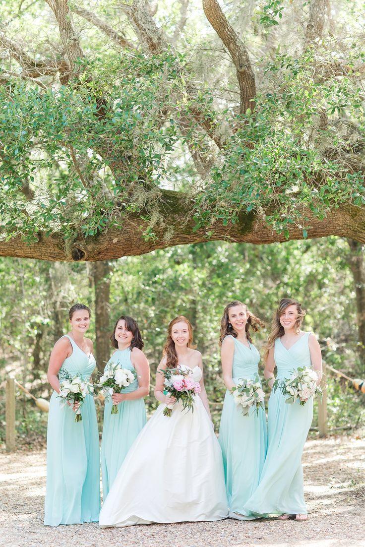 Hatteras destination wedding teal wedding colors light