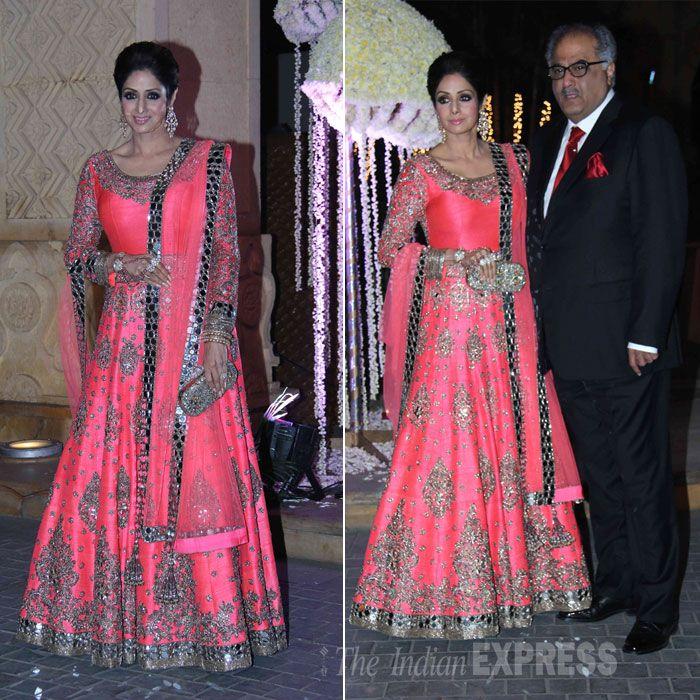 Sridevi picked a stunning anarkali by Manish Malhotra while husband ...