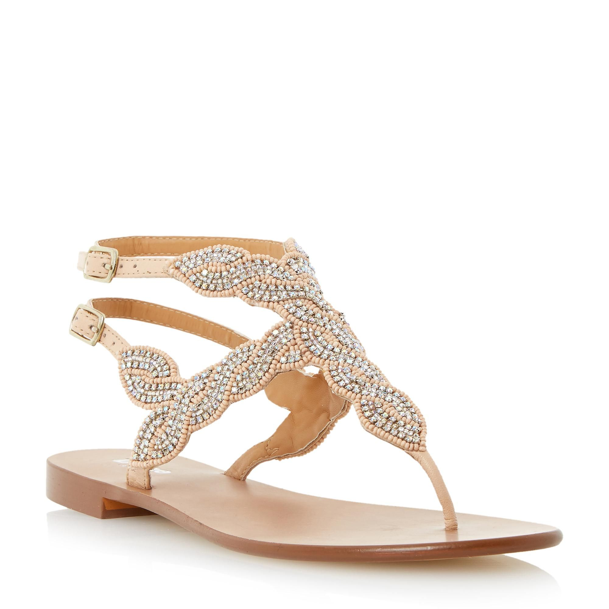 eceb2f0050f06 DUNE LADIES KARPER - Beaded Toe Post Sandal - nude
