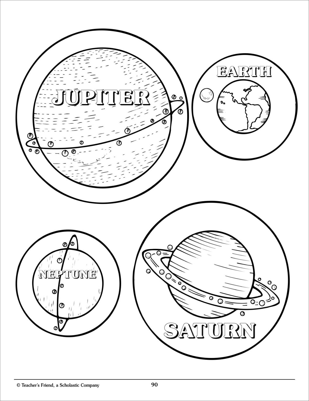 Solar System Mobile - Scholastic Printables | ★☾Space ...