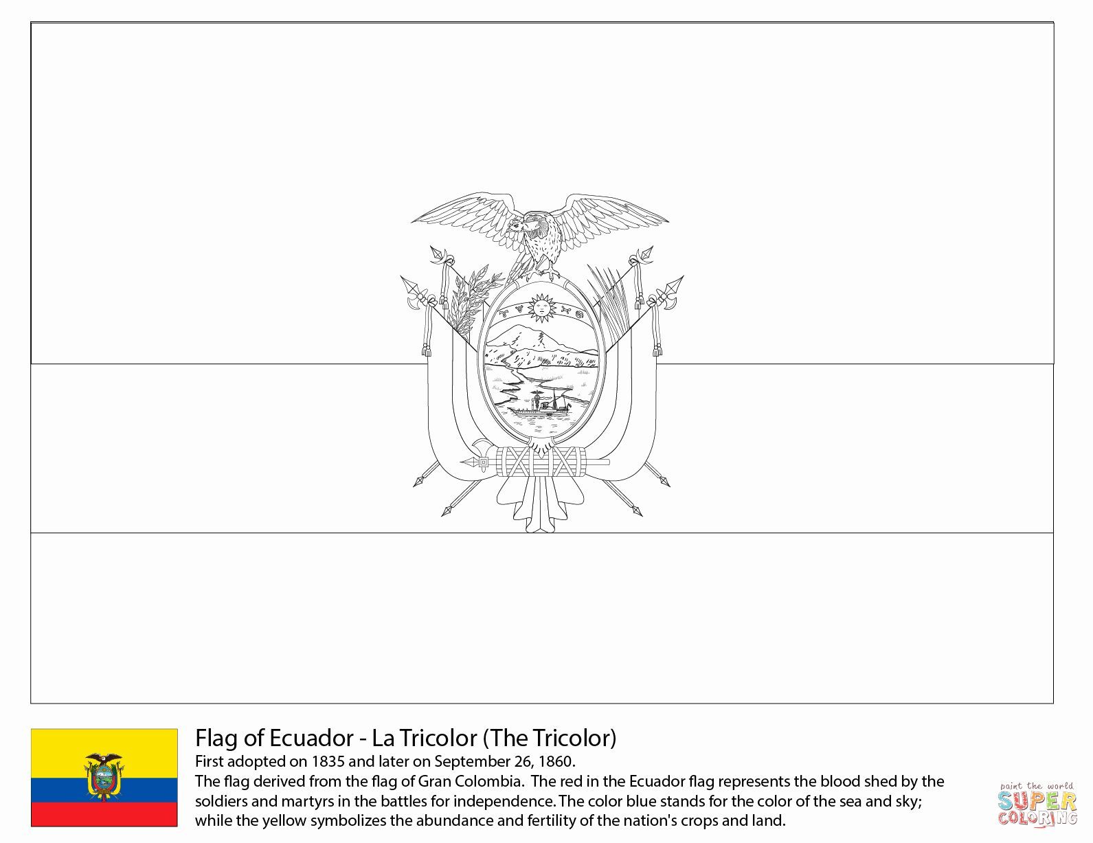 Flag Of Brazil Coloring Page New Vlag Suriname Kleurplaat Ecuador Flag Flag Coloring Pages Coloring Pages