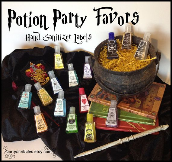 15 Wizard Potion Party Favor DIY Labels by PartyScribbles on Etsy