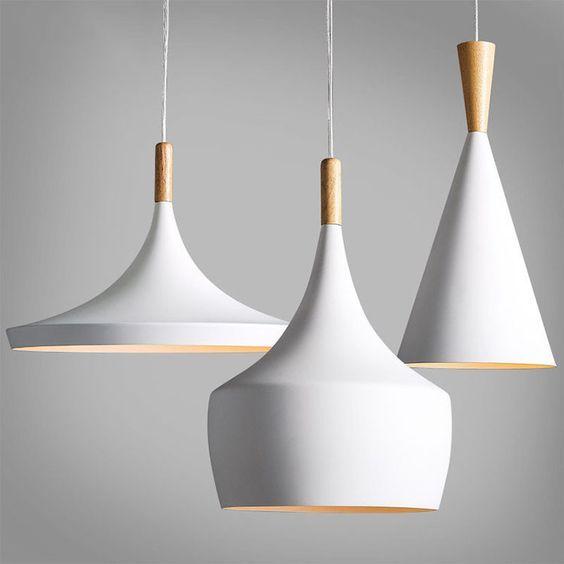 Moderne bois m tal clair chandelier pendentif clairage for Eclairage suspension design