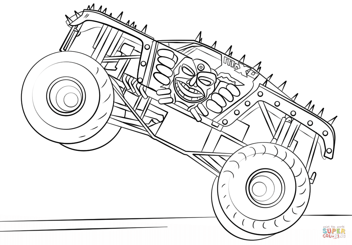 Max D Monster Truck Coloring Page From Monster Truck Category Select From 27948 Print Monster Truck Coloring Pages Cartoon Coloring Pages Truck Coloring Pages