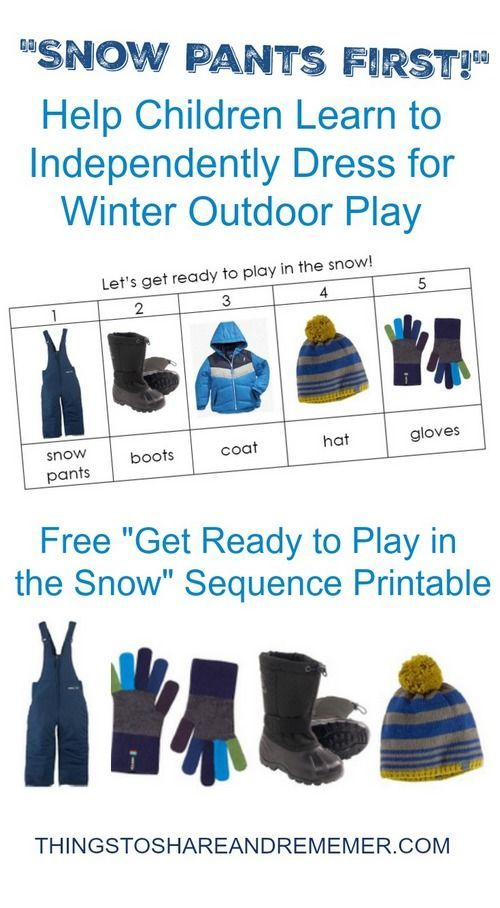 28d42c185 Snow Pants First Printable Sequence Chart