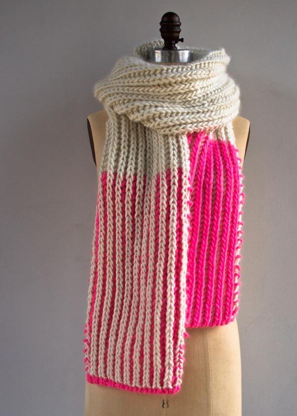 Color Dipped Scarves   Purl Soho   Knitting Knitting Knitting PINS ...