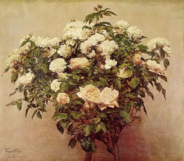 Henri Fantin-Latour 'Still Life with White Roses' 1875 | Flickr - Photo Sharing!