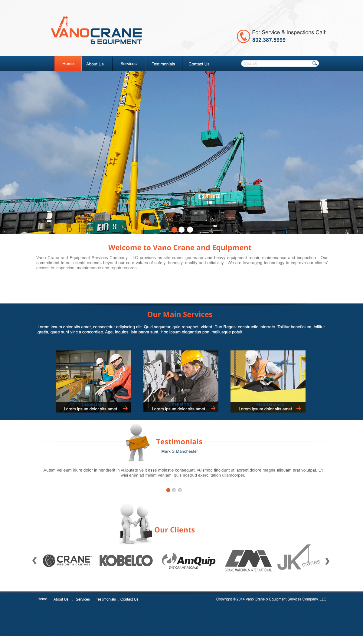 crane inspectors web template skay graphics pinterest website