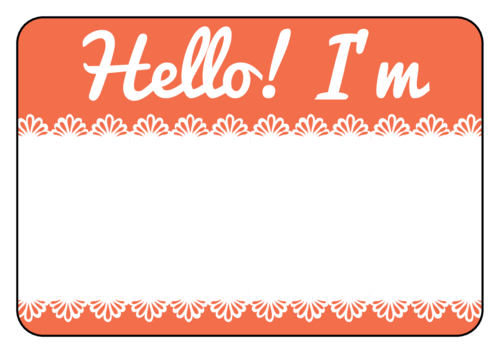 2a2b799b569 Salmon lace name tag template for events
