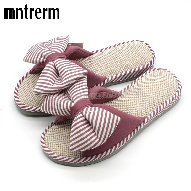 Photo of US $14.02 39% OFF|Xiuteng Candy color Warm Home Slippers Women Bedroom Winter Slippers Cartoon Bowtie Indoor Slippers Cotton Floor Home Flax Shoes|slippers cotton|indoor slipperswinter slippers – AliExpress
