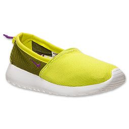 Women's Nike Roshe Run Slip Casual Shoes | FinishLine.com | Venom Green/ Bright