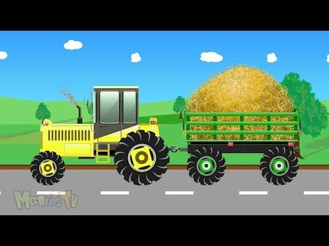 Kids Tractor Cartoon Video For Children Tractors For Kids Youtube Tractors For Kids Cartoon Kids Truck Videos For Kids