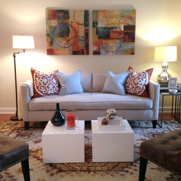 Dunham Sofa Sky Blue Bed Living Room Furniture West Elm Home Stylist Danny Tovar Atlanta