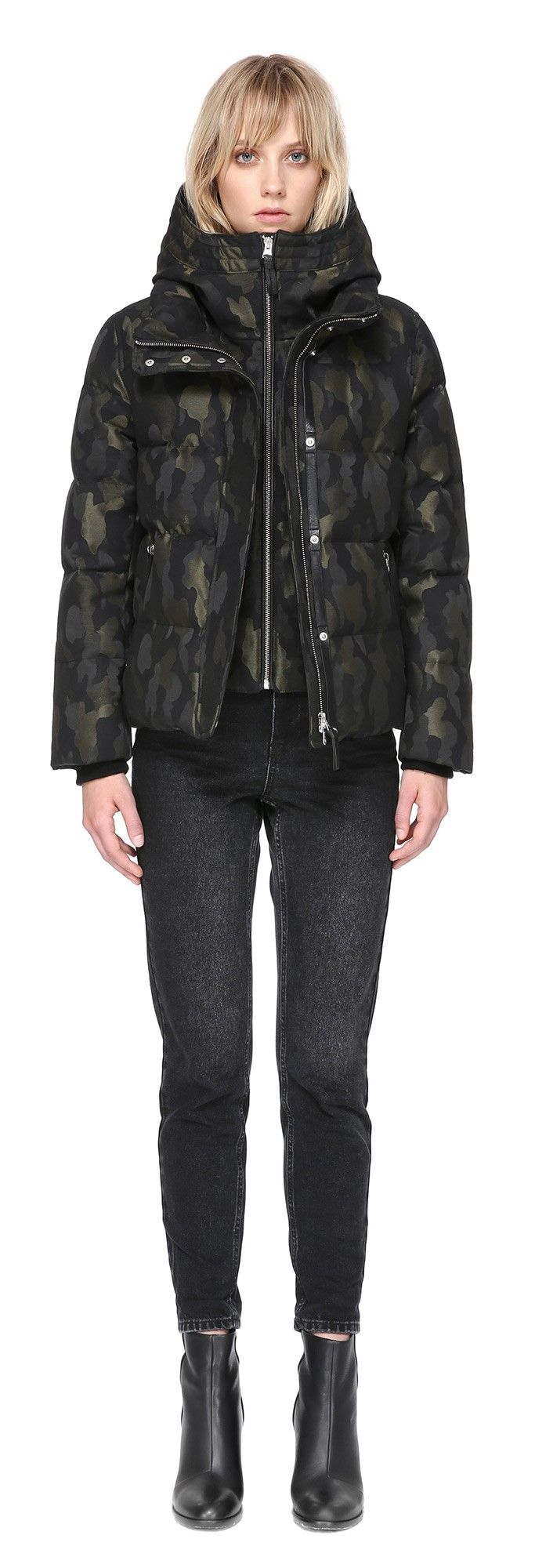 a05d9f82d8f89 CECILY-J JACQUARD DOWN COAT WITH HOOD IN CAMO | Women's Down Coats ...