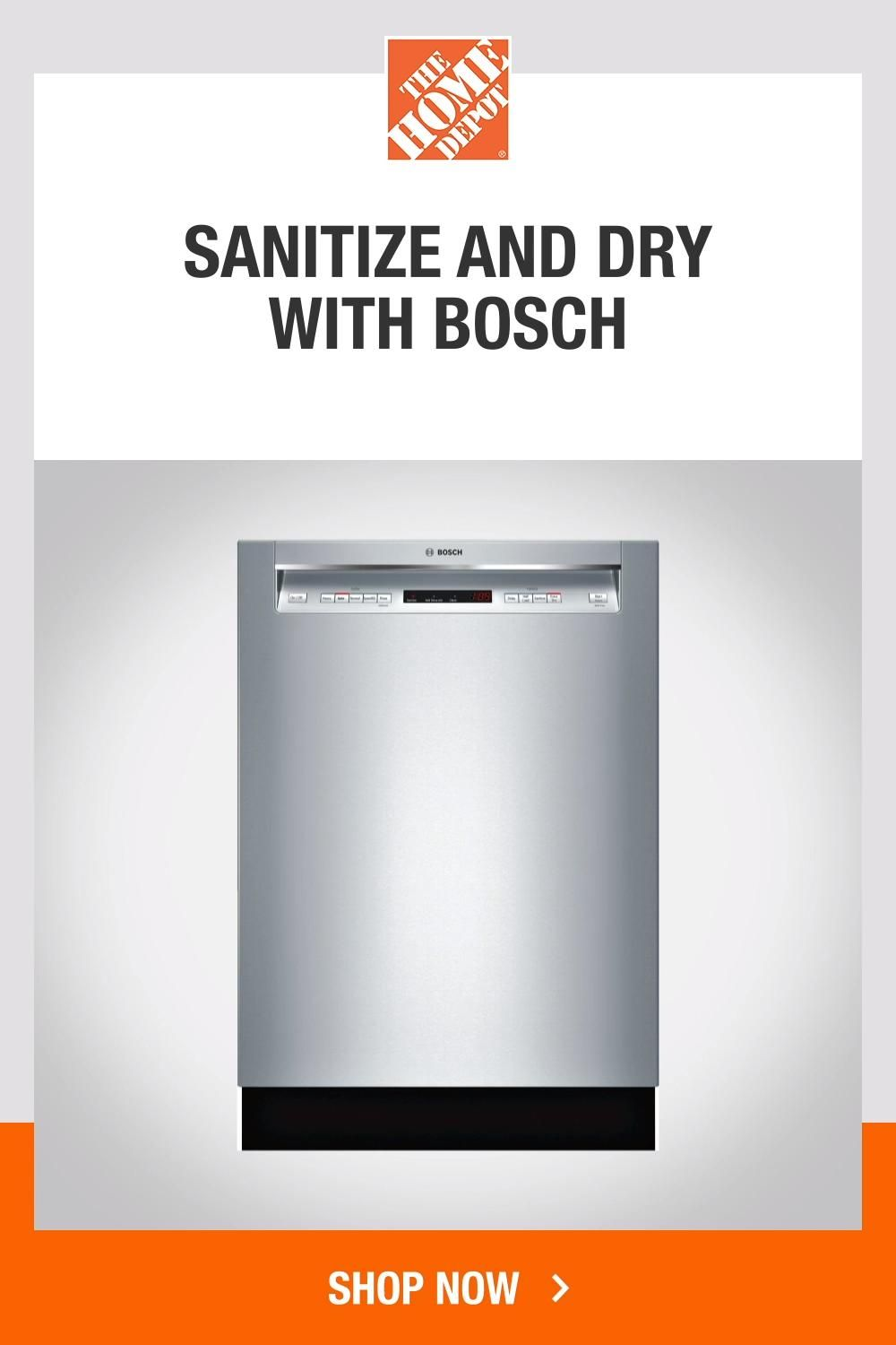 Bosch 300 Series 24 In Stainless Steel Front Control Tall Tub Dishwasher With Stainless Steel Tub And 3rd Rack 44dba Shem63w55n The Home Depot Video Video Steel Tub Kitchen Room Design Dishwasher Repair