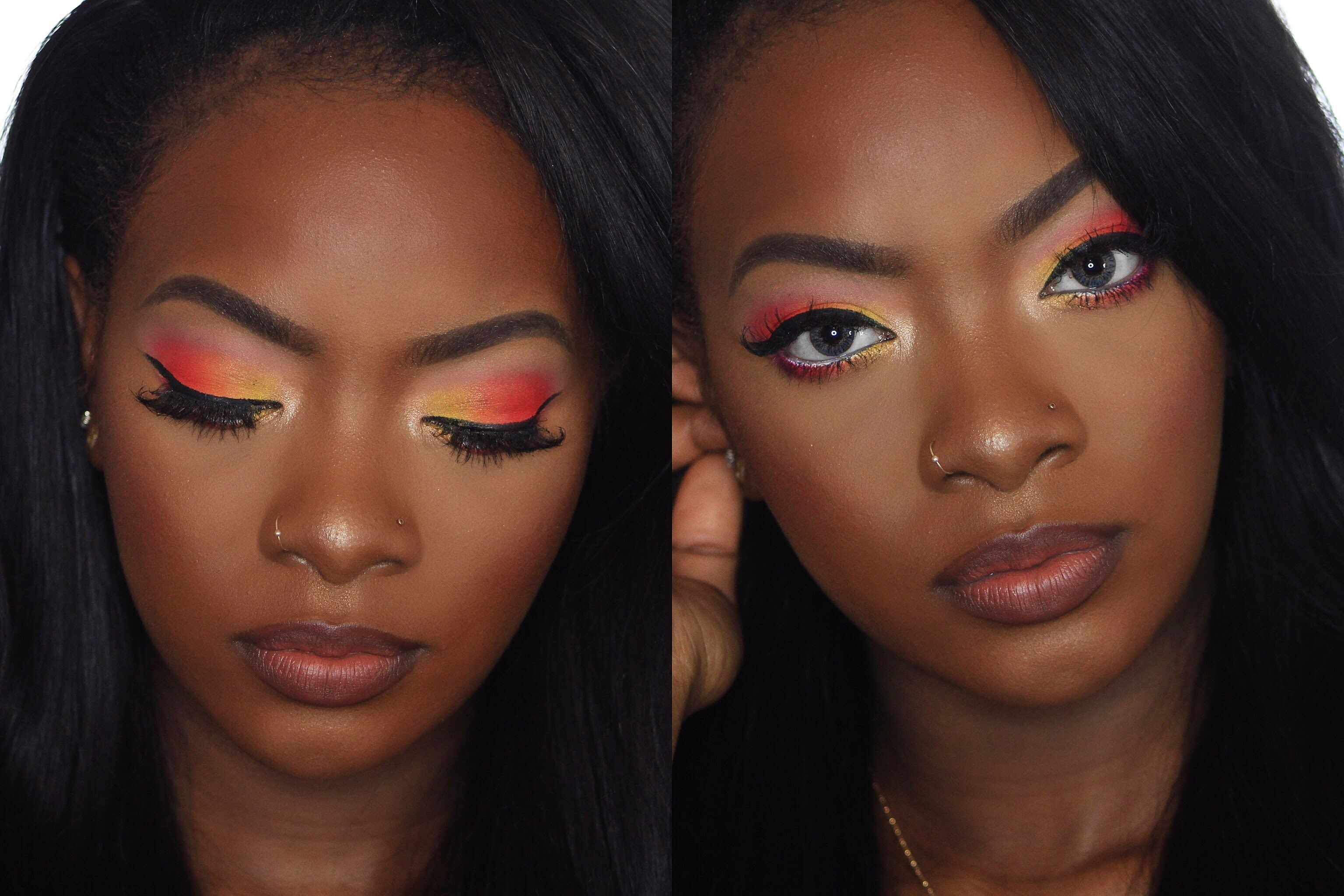 Sunset eyeshadow (warm hues in gradient shades) is the new smoky eye, and perfect for warm weather. Searches for sunset eyeshadow +285% YoY.