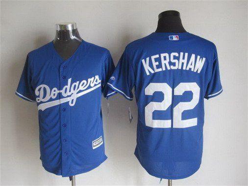 Men s Los Angeles Dodgers  22 Clayton Kershaw Alternate Blue 2015 MLB Cool  Base Jersey ec7d207e3