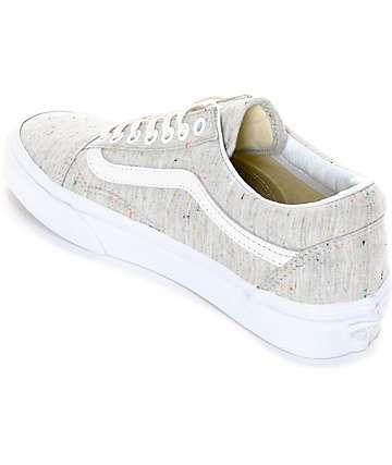 eed1b714fd32f4 Vans Old Skool Speckle Jersey Grey Womens Shoes