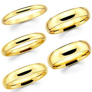 1c82b86c9d4 Solid 14K Yellow Gold 2mm 3mm 4mm 5mm 6mm Comfort Fit Men Women Wedding  Band Ring SOLID GOLD   NOT HOLLOW   NOT PLATED   NOT GOLD FILLED