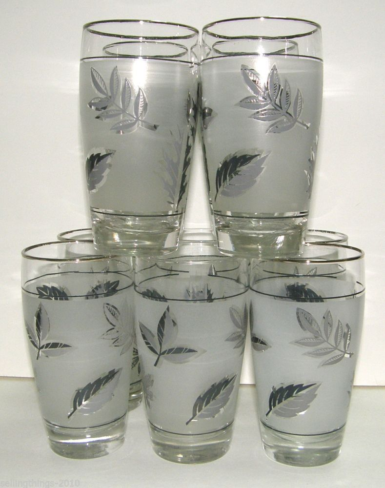 Libbey Silver Foliage 10 oz. Beverage Tumblers - Set of 10 ...