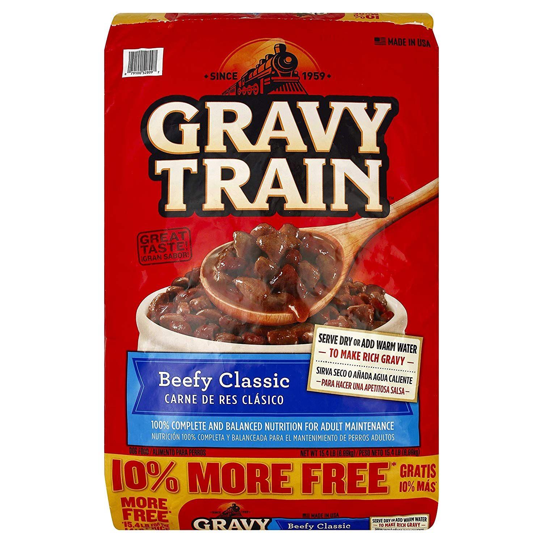 Gravy train beef classic bonus dry dog food 154 lb