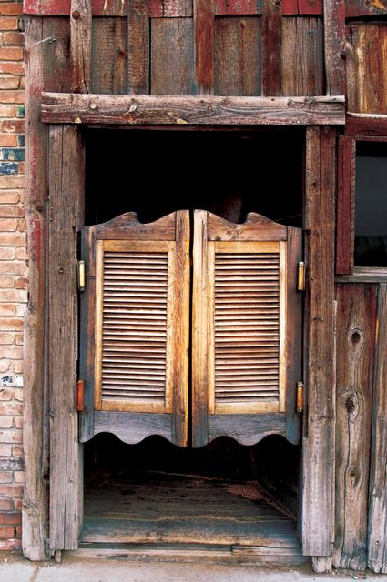 swinging kitchen door chef decor lost trails: old and modern western home décor | dream of ...
