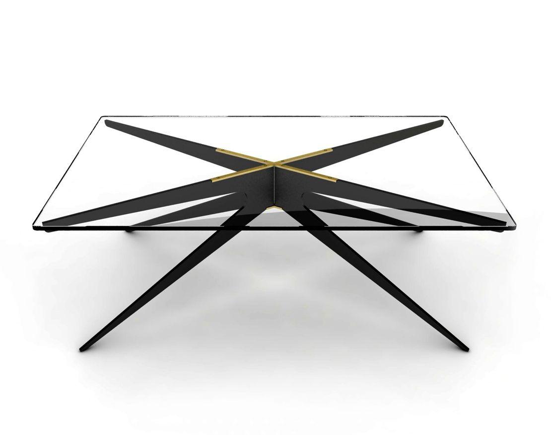 Gabriel Scott Dean Rectangular Coffee Table Black Rectangular Coffee Table Brass Coffee Table Rectangle Glass Coffee Table [ 875 x 1110 Pixel ]