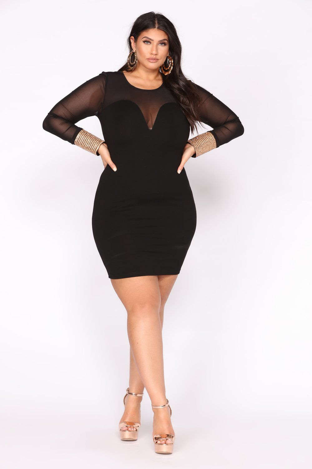 d09bfb317db Talk To Me Mesh Dress - Black