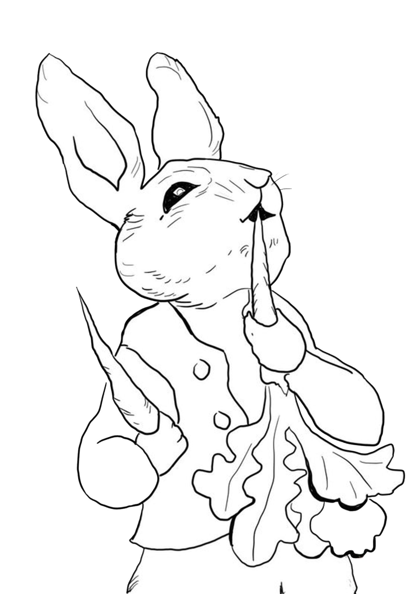 Free Easy To Print Bunny Coloring Pages Bunny Coloring Pages Peter Rabbit Illustration Rabbit Colors