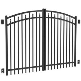 Freedom Black Aluminum Driveway Gate (Common: 96-In; Actual: 93-In) 73