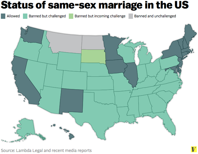 Hilariously Bad Maps That Explain Nothing Supreme Court And LGBT - Map of same sex marriage in the us