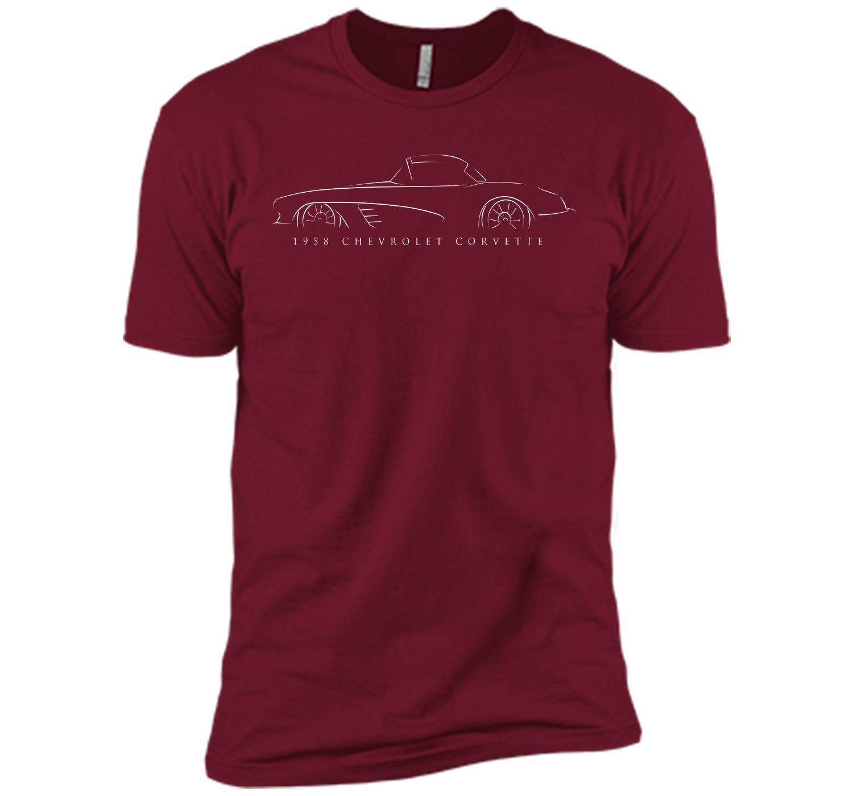 1958 Chevy C1 Corvette - stencil T-Shirt