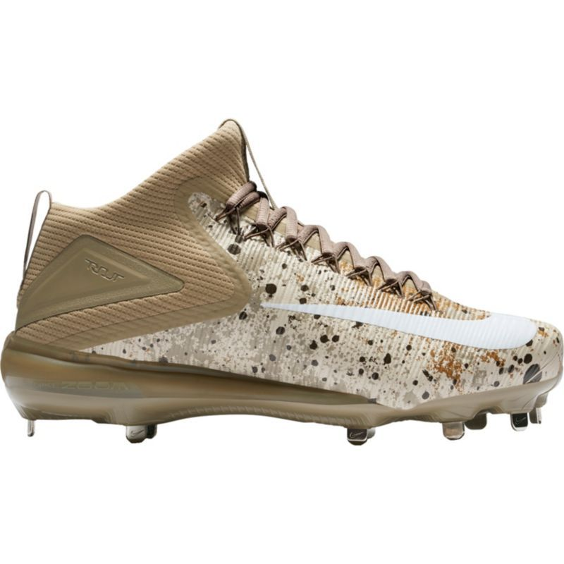 Nike Men's Force Zoom Trout 3 Mid Metal Baseball Cleats, Brown