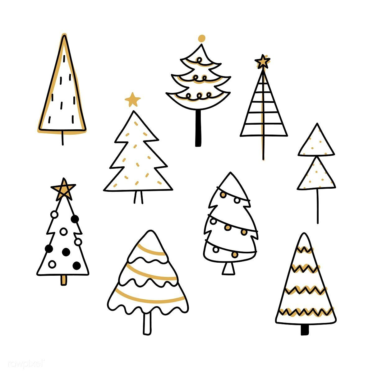 Christmas Pine Tree Pattern Background Drawing Doodle Style Premium Image By Rawpixel Com Ningzk In 2020 Christmas Tree Drawing Christmas Drawing Christmas Doodles