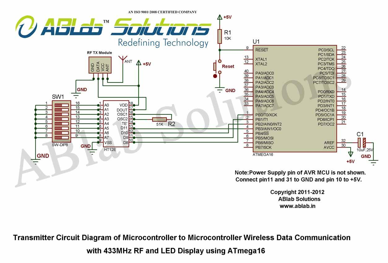 Wireless Transmitter Communication Circuit Diagram Wiring Infrared Microcontroller To Data With Rh Pinterest Com Pdf