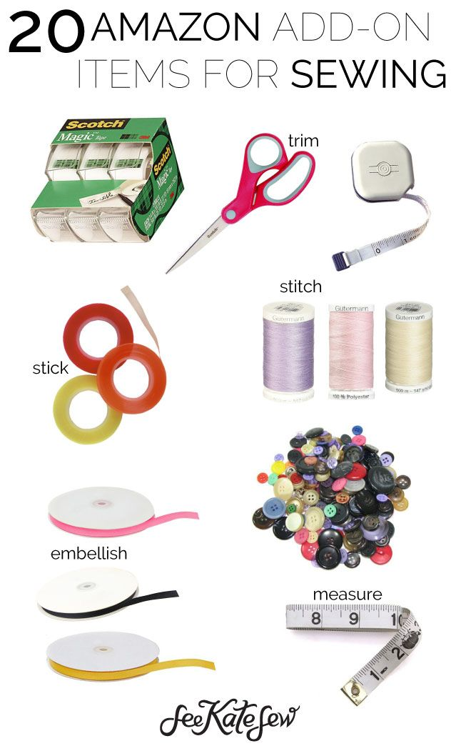 20 amazon add on items for sewing pinterest tutorials sewing projects and crafty. Black Bedroom Furniture Sets. Home Design Ideas
