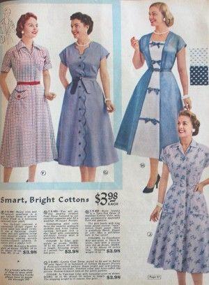 1950s Housewife Dress 50s Day Dresses Housewife Dress 1950s Fashion House Dress