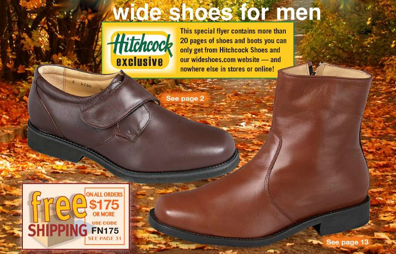 Wide shoes, Wide shoes for men