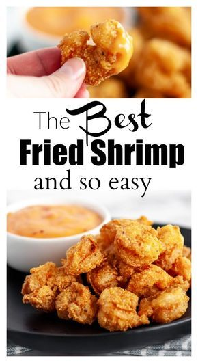 This shrimp batter is so easy and is SO good! #buffaloshrimp