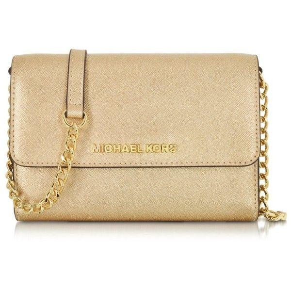 Michael Kors Handbags Pale Gold Metallic Saffiano Leather