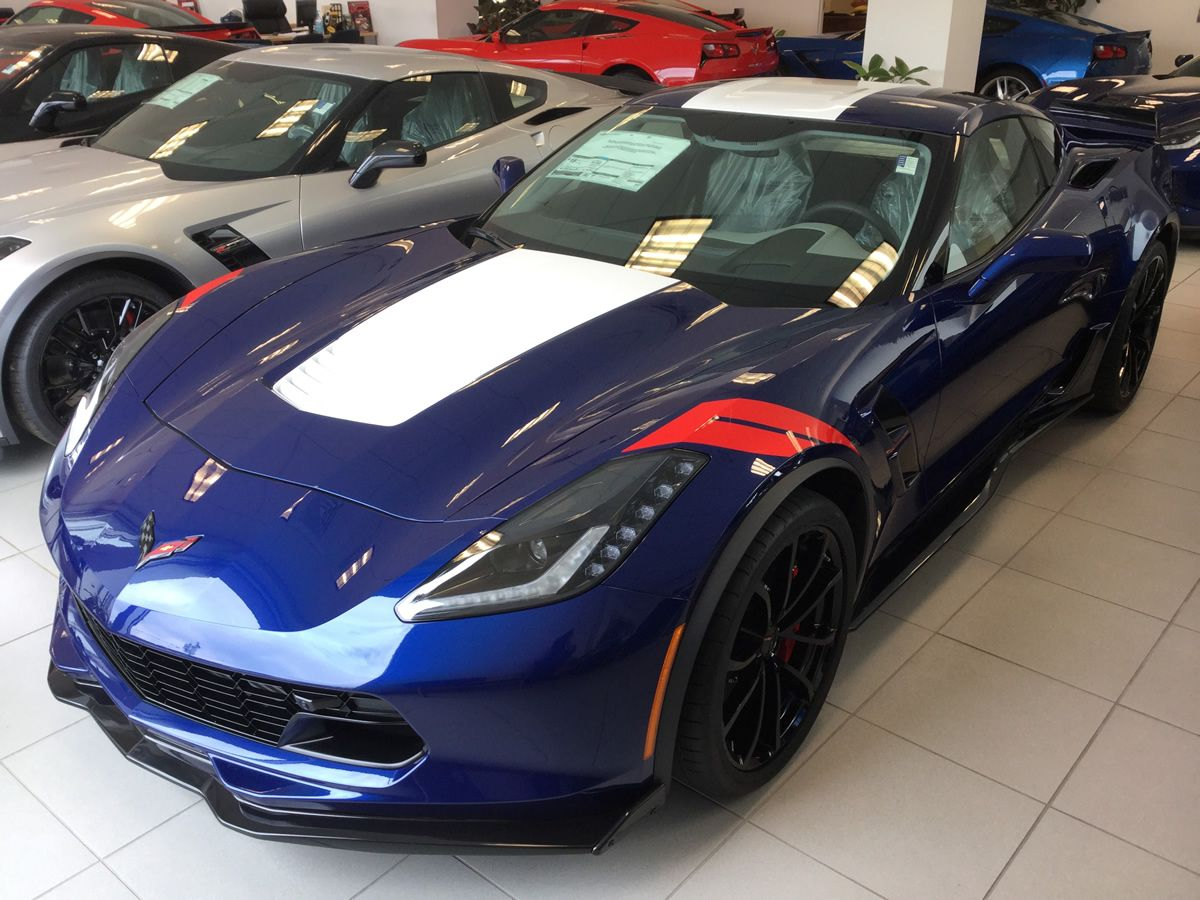 2017 Corvette Grand Sport In Admiral Blue Metallic With Light Gray Interior 3lt Trim Package And Heritage